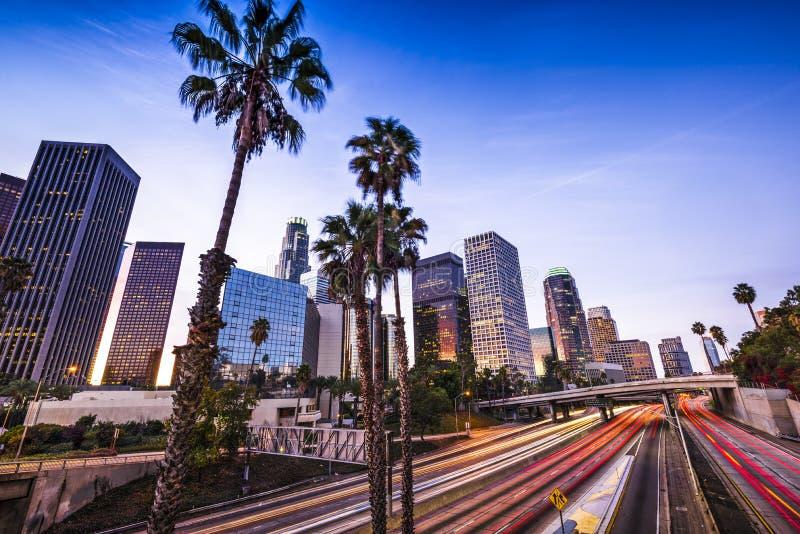 Los Angeles du centre photographie stock