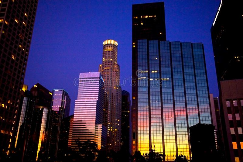 Los Angeles Early Evening royalty free stock photos