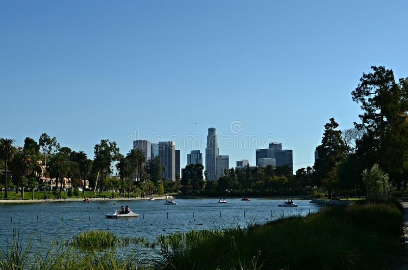 Los Angeles Echo Park royalty-vrije stock foto's
