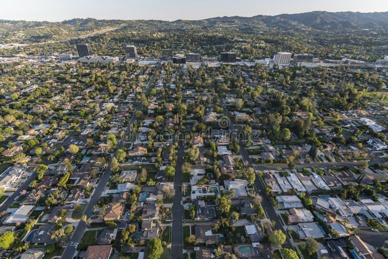 Los Angeles eftermiddagantenn Sherman Oaks Neighborhood arkivbilder