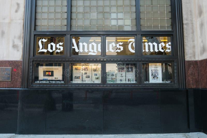 Los Angeles, Etats-Unis - 8 août 2016 : Le bâtiment de Los Angeles Times, situé au 1er et aux rues de ressort à Los Angeles du ce photographie stock libre de droits