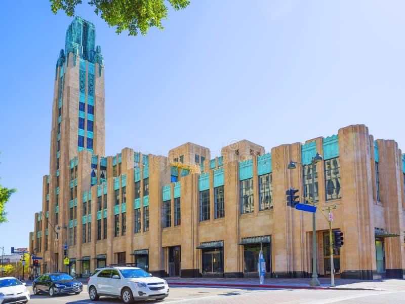 Los Angeles, Etats-Unis, 2016 : Bâtiment de Wilshire de boeuf de 2h24 image stock