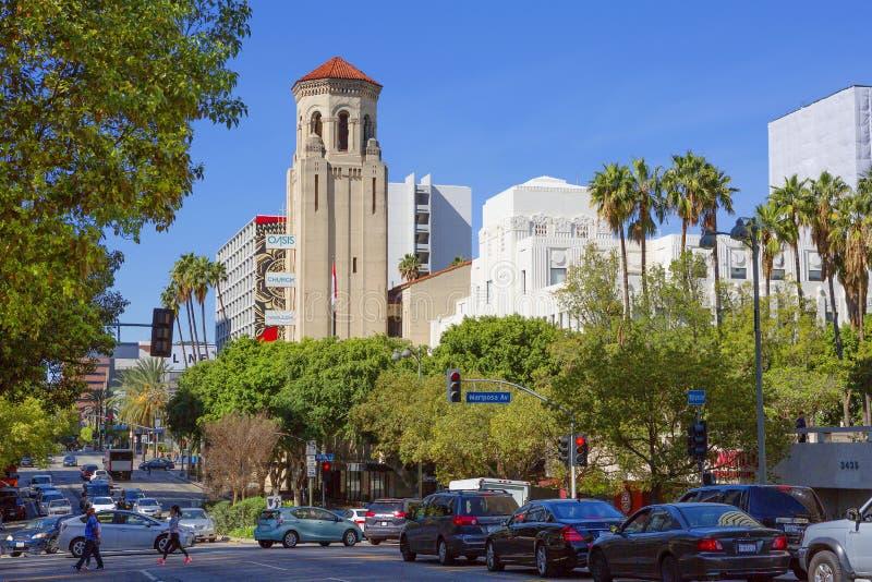 Los Angeles, Etats-Unis, boulevard de Wilshire photo stock