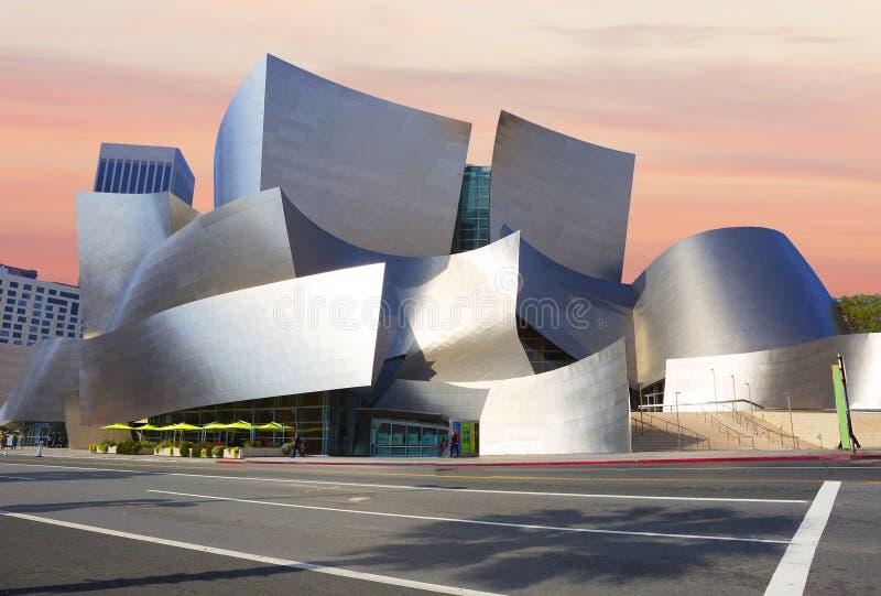 Los Angeles, Etats-Unis, 2016 : 2h28 la salle de concert Walt Disney photographie stock