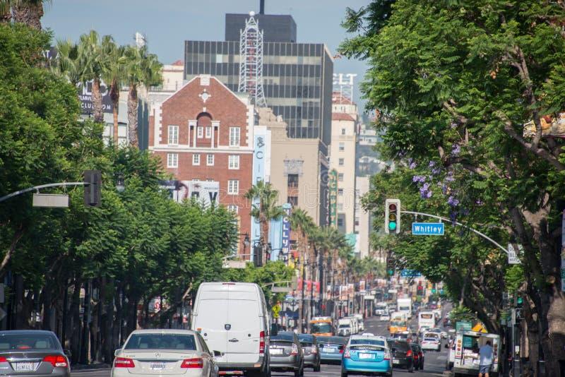 LOS ANGELES, EUA - 1º de agosto de 2014 - trafique na caminhada da fama imagem de stock