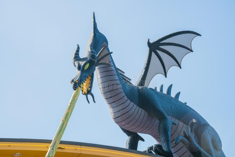 Big Blue Dragon Of The Famous Lego Store Editorial Image - Image of ...