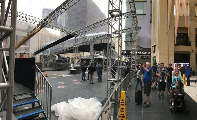 LOS ANGELES, FEB - 21: Oskar przygotowania przy Dolby teatrem, 2017 w Hollywood, Los Angeles, Kalifornia obrazy stock