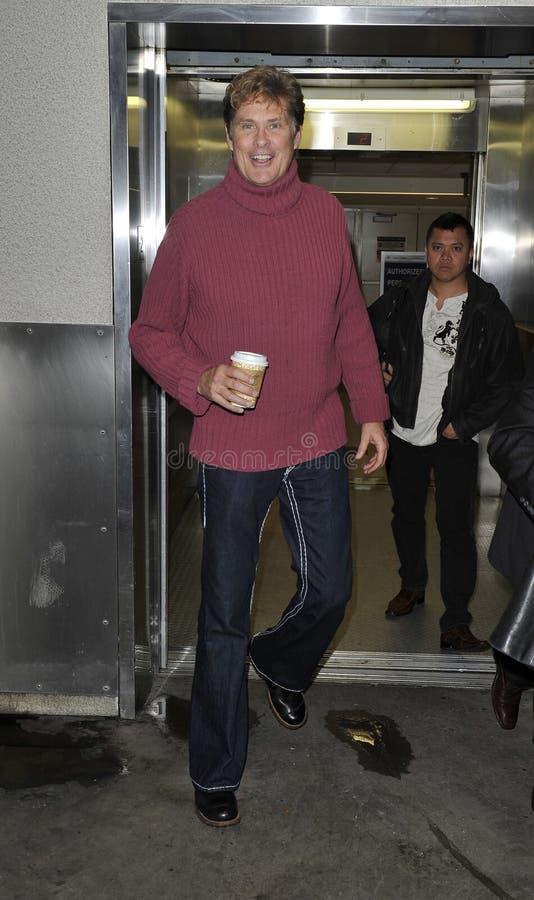 LOS ANGELES - FEBRUARI 7: David Hasselhoff LAX stock foto's