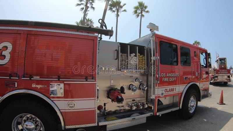 Los Angeles fire trucks royalty free stock image