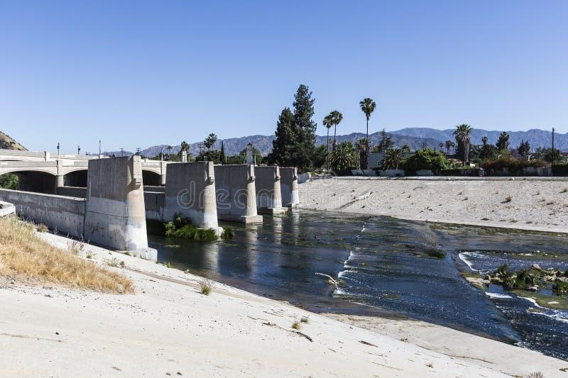 Los Angeles-Fluss an Glendale-Querstation lizenzfreie stockfotos