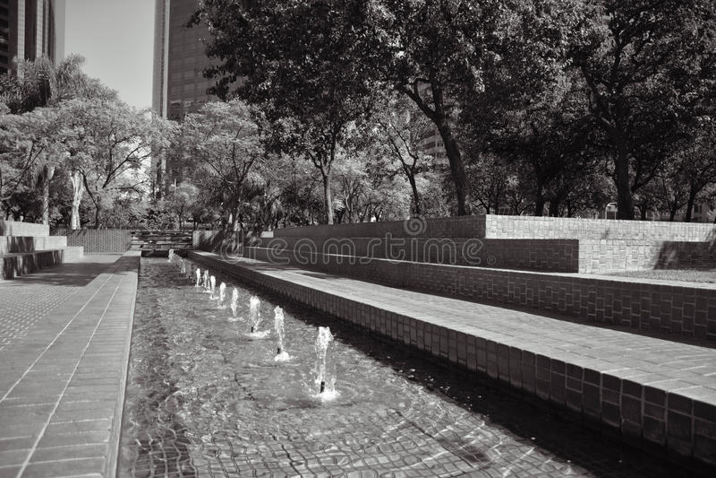 Los Angeles fontanna obrazy stock
