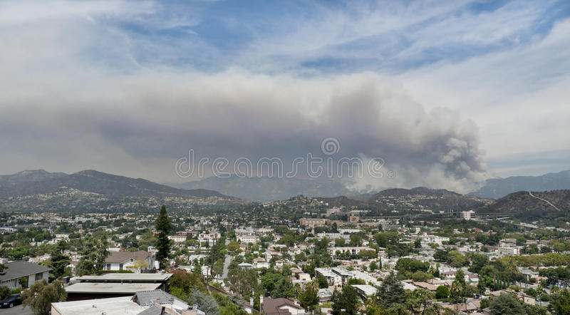 Los Angeles Forest Fire Editorial Image