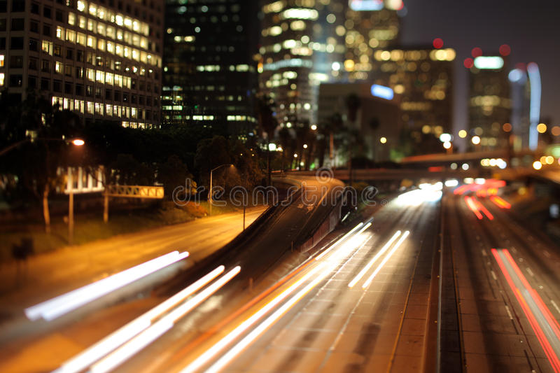 Los Angeles Freeway Royalty Free Stock Photos
