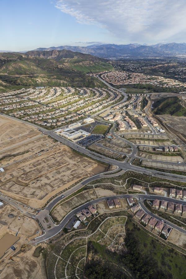 Los Angeles furtianu rancho budowy antena obraz royalty free