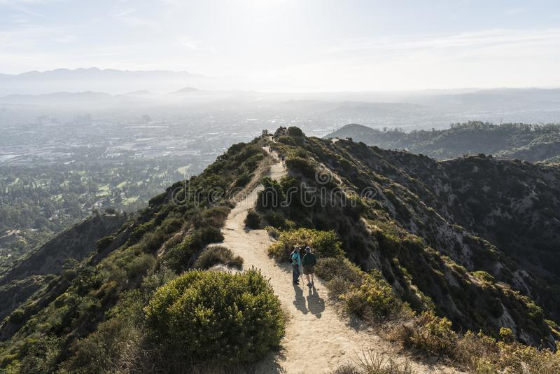 Los Angeles Griffith Park East Ridge Trail royalty free stock image