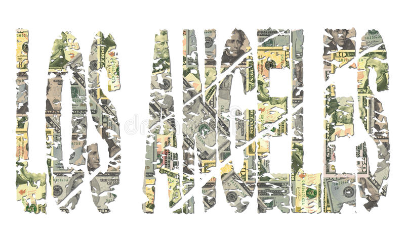 Download Los Angeles Grunge Text With Dollars Stock Photography - Image: 11146822
