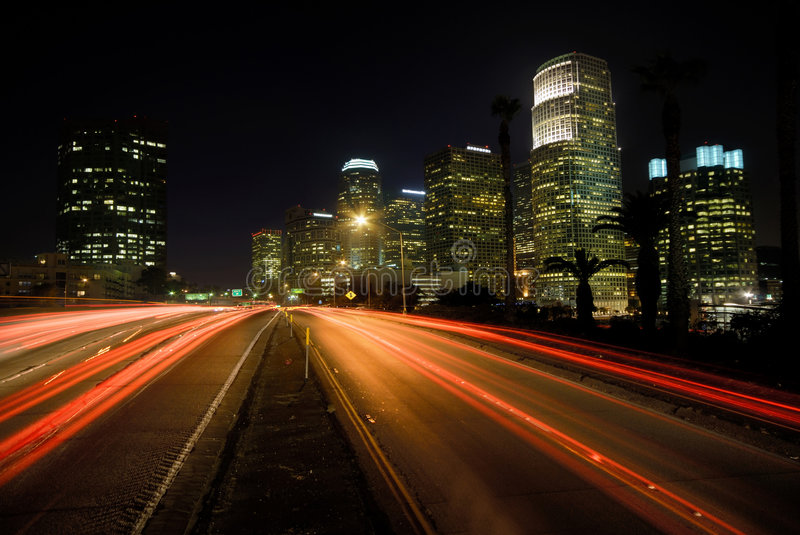 Los Angeles Highway royalty free stock photography