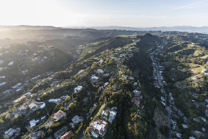 Los Angeles Hollywood Hills södra Beverly Park arkivfoton