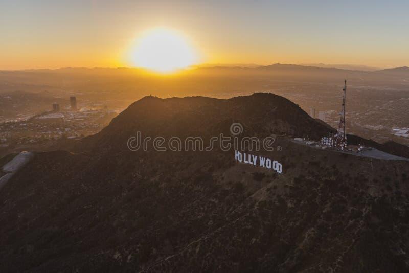 Los Angeles-Hollywood-Schriftzug-Antenne stockfoto