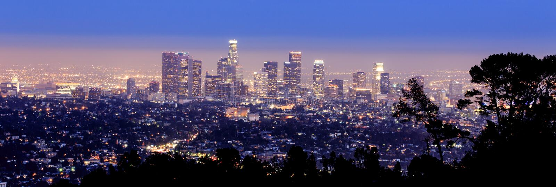 Los Angeles horisont arkivfoton
