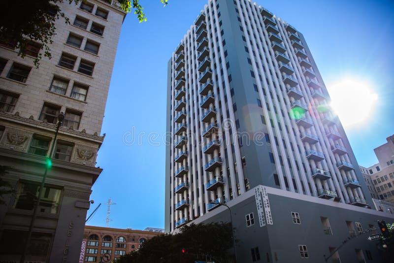 Los Angeles im Stadtzentrum gelegen lizenzfreie stockfotos