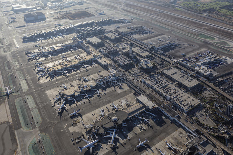 Los angeles international airport aerial view editorial for Lax parking closest to airport