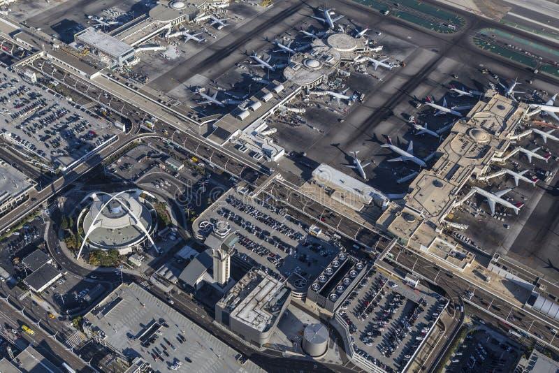 Los Angeles International Airport Buildings Aerial royalty free stock photos