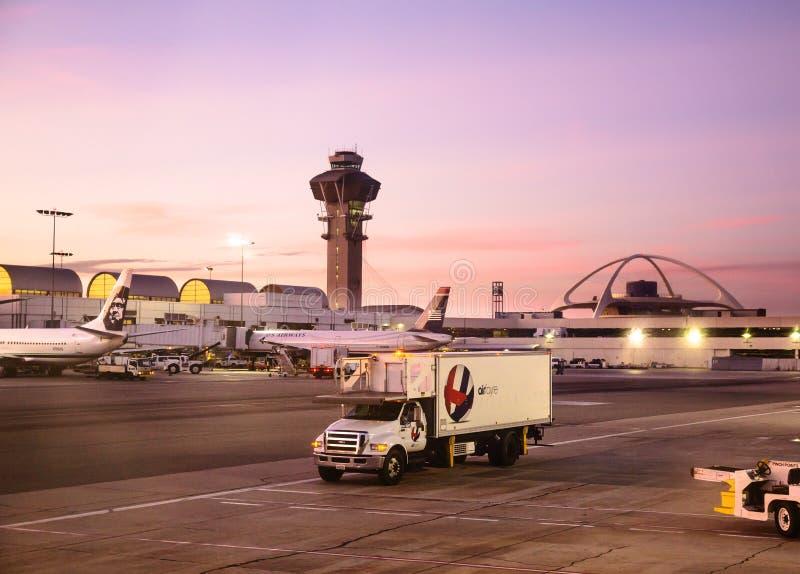 Los Angeles internationell flygplats arkivfoto