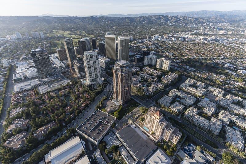 Los Angeles-Jahrhundert-Stadt-Skyline-Antenne lizenzfreies stockfoto