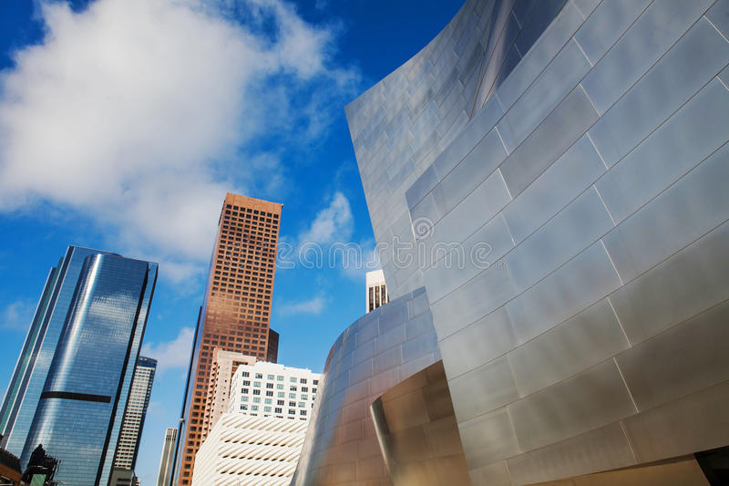 LOS ANGELES - JULI 26: Walt Disney Concert Hall binnen stock fotografie