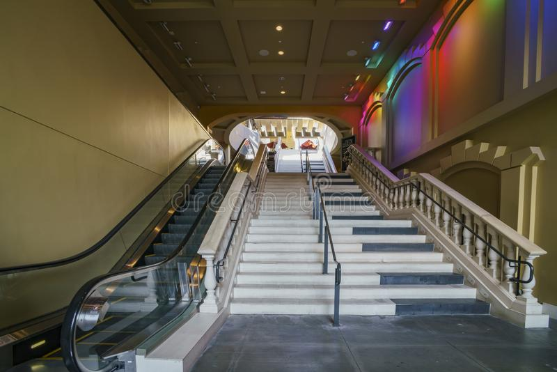 Dolby Theatre of the famous Hollywood area stock images
