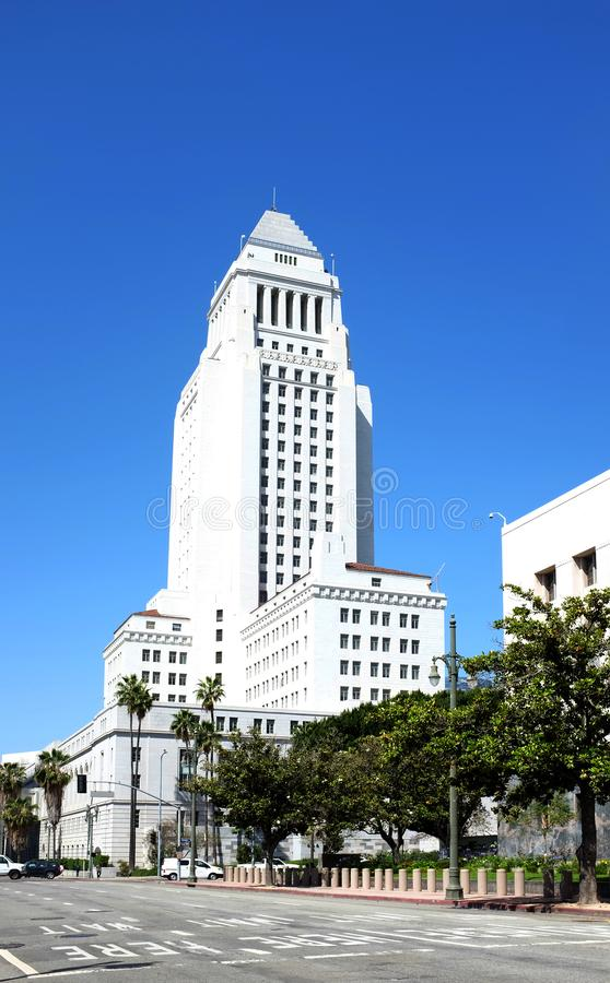 Los Angeles City Hall building stock photo