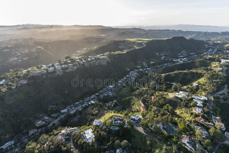 Los Angeles Kalifornia Beverly parka Południowa antena obraz royalty free