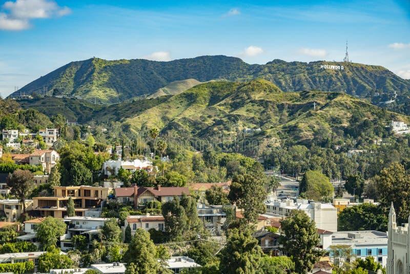 Los Angeles, Kalifornia Kwiecień, 3rd, 2019 Los Angeles wzgórzy obrazy stock