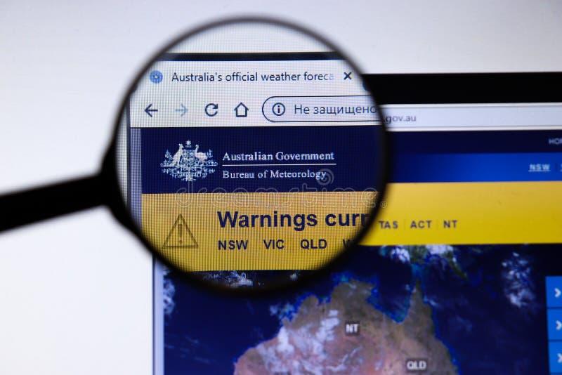 Los Angeles, Kalifornien, Förenta staterna - 19 december 2019: Bureau of Meteorology Australian Government webbplats Bom gov för  arkivbild