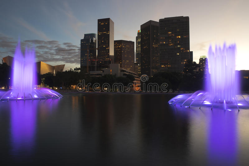 Los Angeles Kalifornien i stadens centrum horisont royaltyfri foto