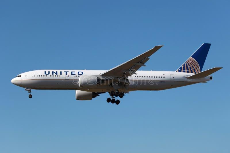 United Airlines Boeing 777-200 arkivbild