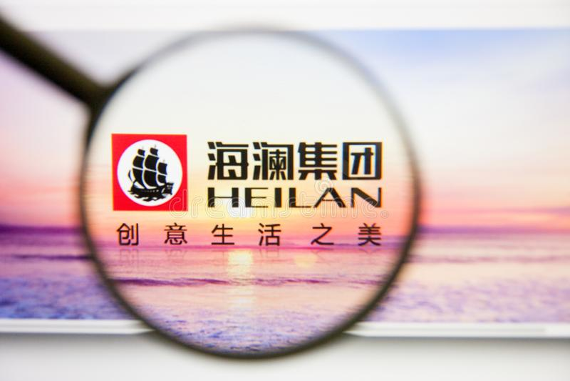 Los Angeles Kalifornien, USA - 14 Februari 2019: Heilan hem- websitehomepage Heilan hem- logo som är synlig på bildskärm royaltyfri foto