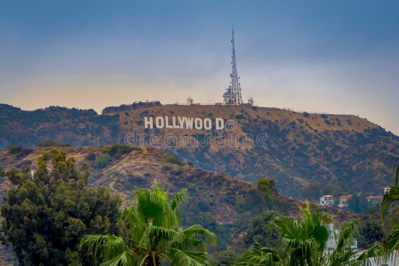 Los Angeles, Kalifornien, USA, JUNI, 15, 2018: Der weltberühmte Markstein Hollywood-Schriftzug in Los Angeles, Kalifornien lizenzfreie stockfotografie