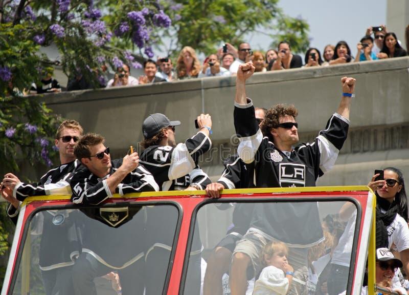 Los Angeles Kings Stanley filiżanki zwycięstwa parada zdjęcia royalty free
