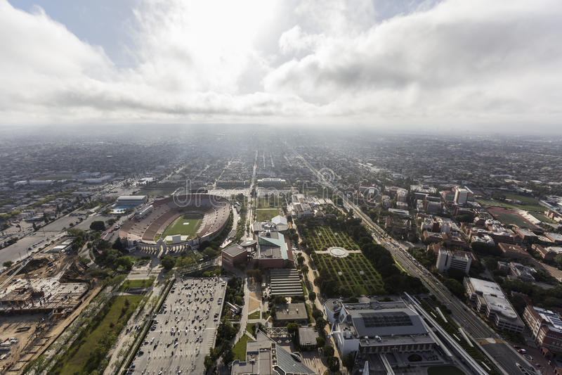Los Angeles kolosseum i ekspozycj Parkowi muzea obraz royalty free