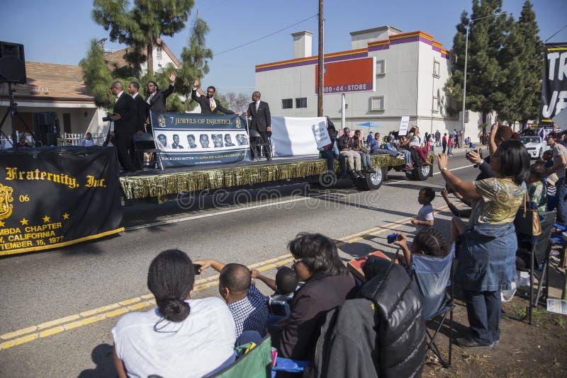 Los Angeles, la Californie, Etats-Unis, le 19 janvier 2015, 30ème Martin Luther King Jr annuel Défilé de jour de royaume photo stock