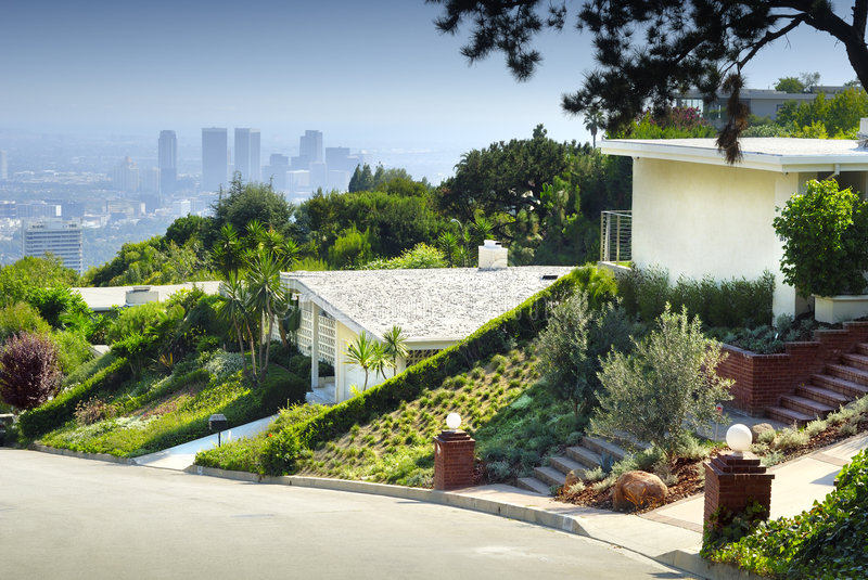 Los Angeles Living. Living house in Los Angeles stock photos