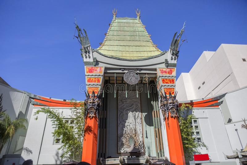 Los Angeles,Los Angeles, USA, 2016:02:24. Grauman`s Chinese theater. Grauman`s Chinese theater is a movie theater on 1162 located on Hollywood Boulevard in Los royalty free stock photo
