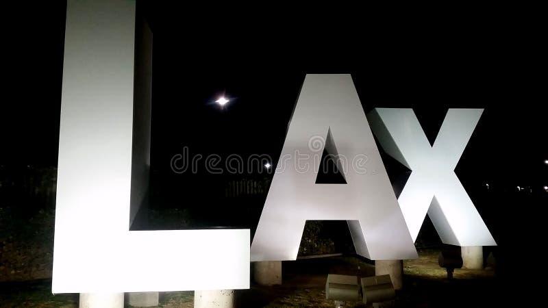 Los Angeles lotnisko międzynarodowe - rozwolnienie znak obraz royalty free