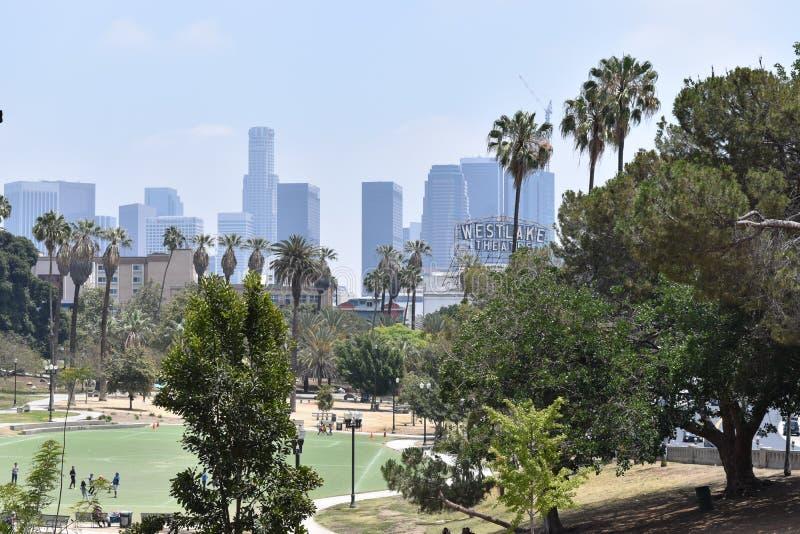 Los Angeles Macarthur Park royaltyfria bilder