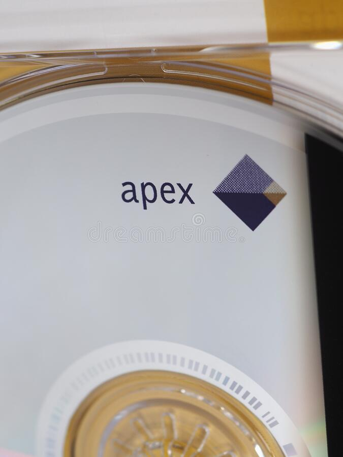 LOS ANGELES - MAR 2020: Apex sign on CD. LOS ANGELES, USA - CIRCA MARCH 2020: Apex (by Warner Classics) sign on music CD stock photo