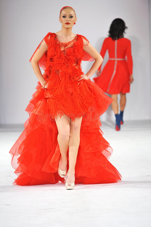 Free Los Angeles - March 14: Celebrities Walk The Runway At GO RED In Support Of American Heart Association Royalty Free Stock Image - 30417446