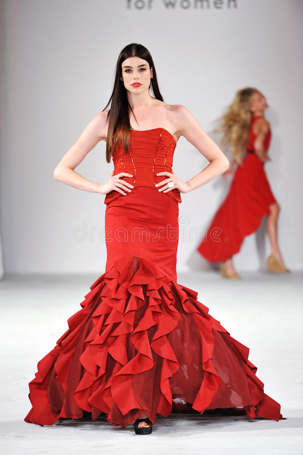 Free Los Angeles - March 14: Celebrities Walk The Runway At GO RED In Support Of American Heart Association Stock Photos - 30417483