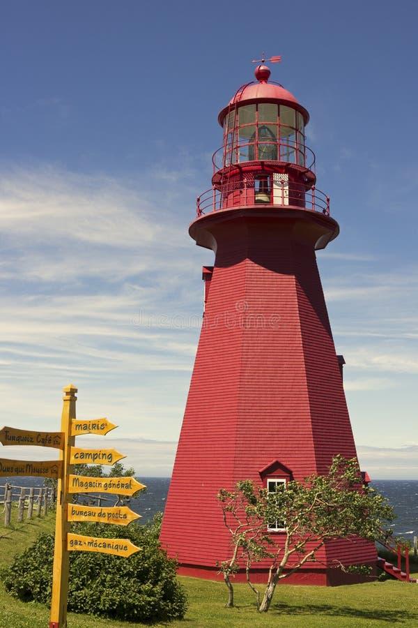 Los Angeles Martre De gaspé Latarnia morska w Quebec obrazy royalty free